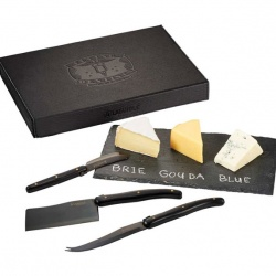Laguiole Black Cheese and Serving Set