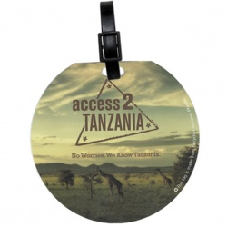 Recycled Round Luggage Tag