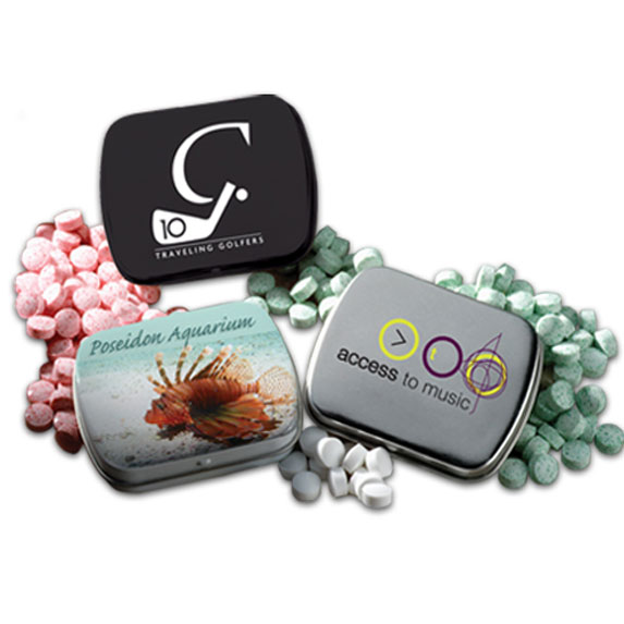 Hinged Tin with Mini Mints - Food, Candy & Drink