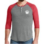 Alternative Men's Eco-Jersey 3/4 Sleeve Raglan Henley