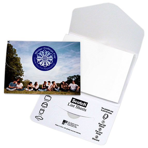 Scotch Custom Print Lint Sheets PocketPack - Travel Accessories & Luggage
