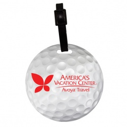 Mini Golf Ball Luggage Tag