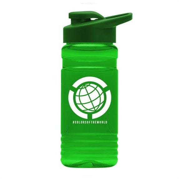 20 oz. Recycled PETE Bottle with Drink-Thru Lid - Mugs Drinkware