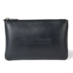 Travis & Wells Leather Zippered Pouch