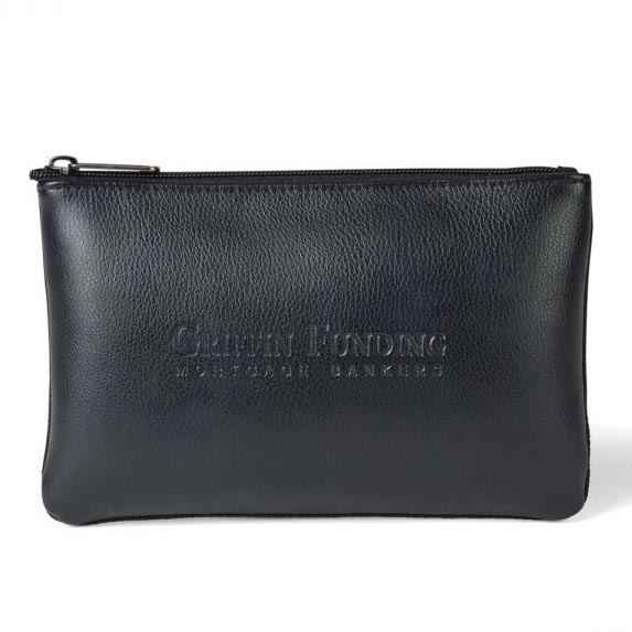 Travis & Wells Leather Zippered Pouch - Travel Accessories & Luggage