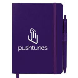 5 x 7 Hue Soft Bound Notebook with Pen