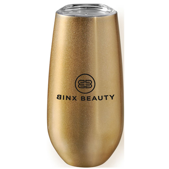 Rosa 6 oz. Vacuum Champagne Flute - Mugs Drinkware
