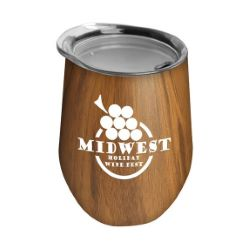 Woodtone 10 oz. Stainless Steel Stemless Wine Tumbler