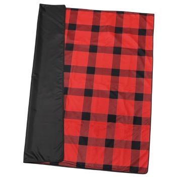 Buffalo Plaid Fleece Picnic Blanket - Outdoor Sports Survival