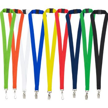"3/4"" Blank Lanyard with Bulldog Clip - Awards Motivation Gifts"