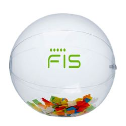 16 Multi Color Confetti Filled Clear Beach Ball