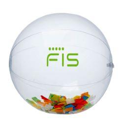 16 Multi Color Confetti Filled Clear Beach Ball