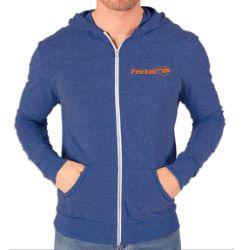Adult Triblend Contrast Zip Front Hoodie