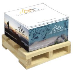 3-3/8 x 3-3/8 x 1-3/4, FullColor Sticky Cube with Sheet Imprint