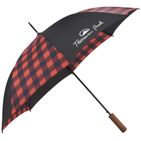 "46"" Auto Open Buffalo Plaid Fashion Umbrella - Outdoor Sports Survival"