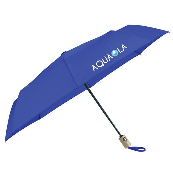 "42"" Recycled PET Auto Open/Close Folding Umbrella - Outdoor Sports Survival"