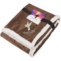 Field & Co. Sherpa Blanket with Full Color Card