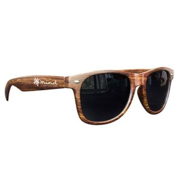 Medium Wood Tone Miami Sunglasses - Outdoor Sports Survival