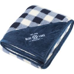 Field & Co. Double Sided Plaid Sherpa Blanket