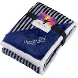 Field & Co. Chevron Striped Sherpa Blanket with Full Color Card