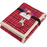 Field & Co. Plaid Sherpa Blanket with Full Color Card