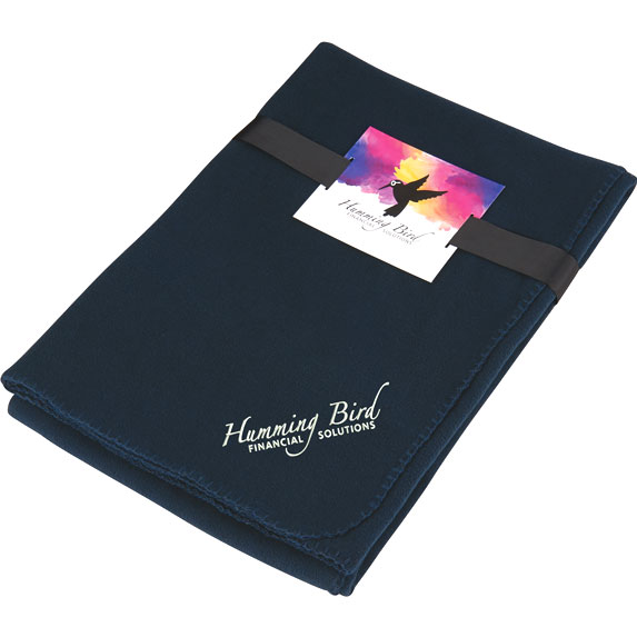 Ultra Soft Fleece Blanket with Full Color Card - Kitchen & Home Items