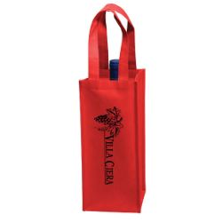 Vineyard Collection's Single Bottle Non-Woven Wine Tote