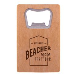 Wooden Credit Card Bottle Opener