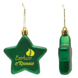 Shatter Resistant Flat Star Ornament