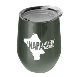 10 oz. Stainless Steel Stemless Wine Glass Tumbler