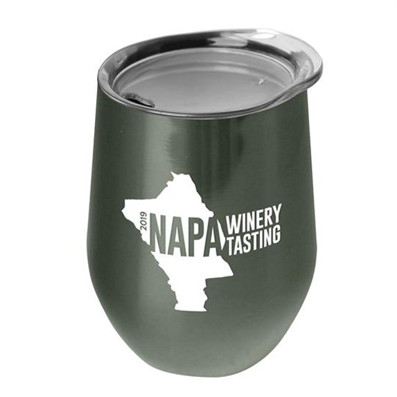 10 oz. Stainless Steel Stemless Wine Glass Tumbler - Mugs Drinkware