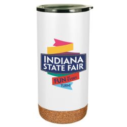 16 oz. Double Wall Stainless Tumbler with Cork Bottom
