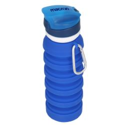Collapsible Silicone Water Bottle with Carabiner