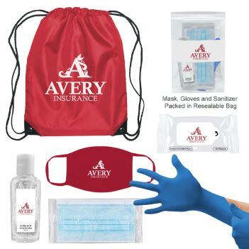 Wellness on the Go with Drawstring Bag - Health Care & Safety Fitness Products