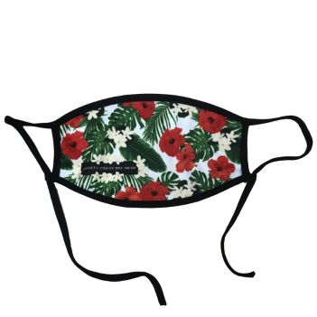 Dye Sublimated Mask with Sliding Adjustable Ear Loops - Health Care & Safety Fitness Products