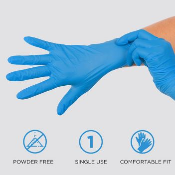 Powder Free Nitrile Gloves - Health Care & Safety Fitness Products