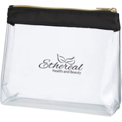 Satin Clear Cosmetic Bag