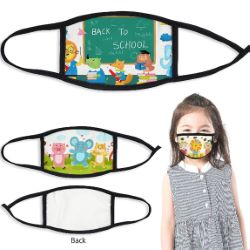 100% Polyester Children's Full Color Face Mask