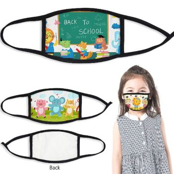 100% Polyester Children's Full Color Face Mask - Health Care & Safety Fitness Products