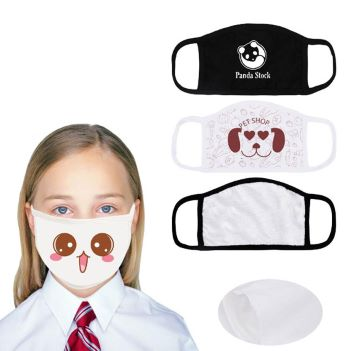 Reusable 2-Ply Full Color Kid's Face Mask - Health Care & Safety Fitness Products