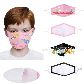 Reusable 3-Ply Full Color Children's Face Mask - Health Care & Safety Fitness Products