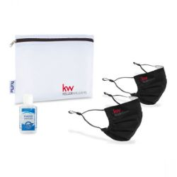Reusable Pleated Face Masks and Hand Sanitizer Kit