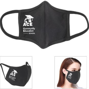3-Ply 100% Cotton Front Seam Comfort Fit Face Mask - Health Care & Safety Fitness Products