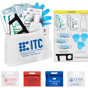 14 Piece Essential PPE Kit - Health Care & Safety Fitness Products