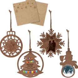 Wooden Holiday Ornaments