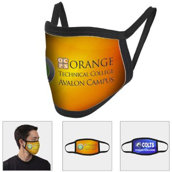 Full Color Sublimation Washable & Reusable Face Mask - Health Care & Safety Fitness Products