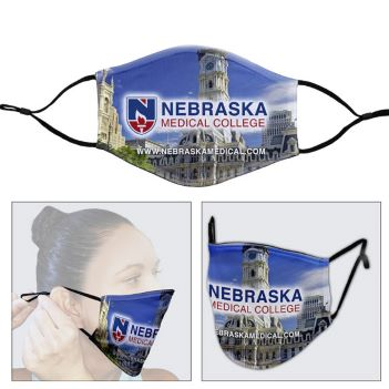 Full Color Sublimation Face Mask with Ear Loop Adjusters - Health Care & Safety Fitness Products