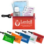 Essential Wellness Kit with Translucent Zippered Pouch