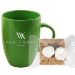 10 oz. Ceramic Mug with Mini S'mores Kit
