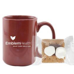 15 oz. Ceramic Mug with Mini S'mores Kit